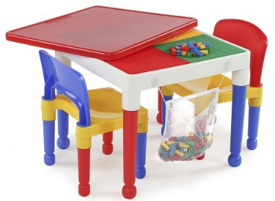 2-in-1 Kids Tot Tutors Construction Table W:chairs