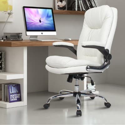 YAMASORO Ergonomic Executive Office Chair High-Back PU Leather Computer Desk Chair