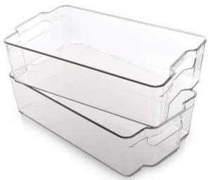 BINO Stackable Rectangular Plastic Storage Organizer Bin