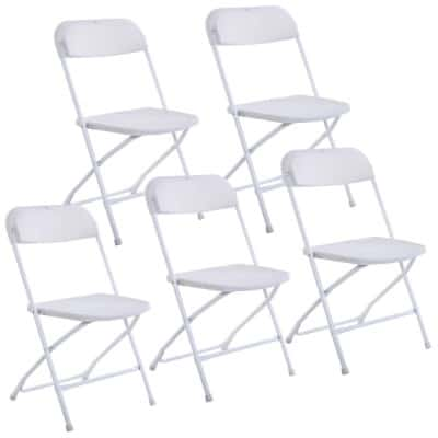 Giantex Set of 5 Plastic Folding Chairs