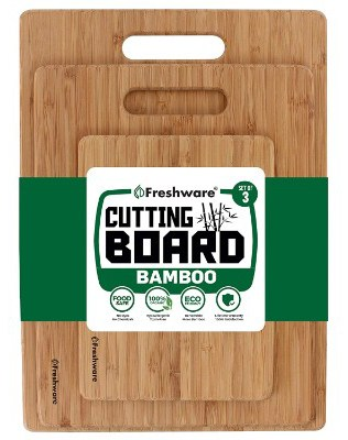 Freshware Bamboo Cutting Board - Wood Chopping Board