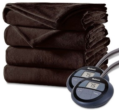 Holmes Luxury Velvet Plush Heated Blanket