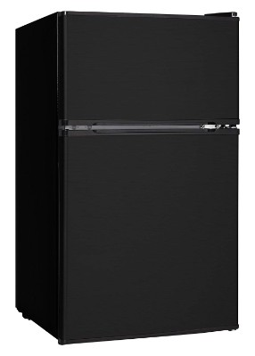 Midea WHD-113FB1 Compact Reversible Double Door Refrigerator and Freezer, 3.1 Cubic Feet