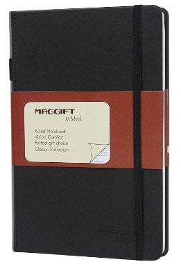 Maggift Hardcover Notebook, Thick Classic Notebook with Pen Loop