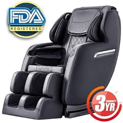 Massage Chair Recliner, S-track Zero Gravity Full Body Shiatsu Luxurious Electric Massage Chair