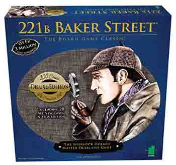 Deluxe 221B Baker Street Board Game - 200 Intriguing Adventures 2-6 Players