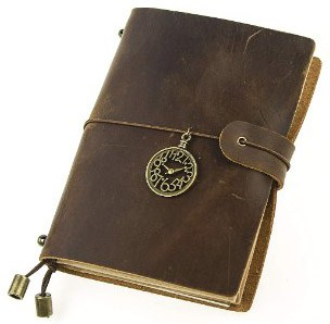 UNIQUE HM&LN Genuine Leather Journal Notebook Travelers