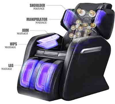Massage Chair Recliner, Zero Gravity Full Body Shiatsu Luxurious Electric Massage Chair