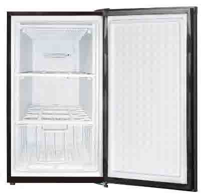 Midea WHS-109FB1 Compact Single Reversible Door Upright Freezer, 3.0 Cubic Feet