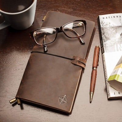 Leather Notebook Journal - Refillable Travel Journal