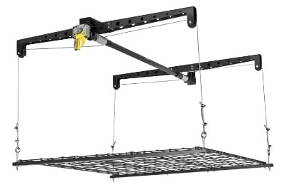 Racor PHL-1R - Ceiling Storage Heavy Lift - 4-by-4-Foot Cable-Lifted Storage Rack
