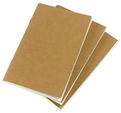 Dotted Notebook Journal (3 Pack) Pocket 3.5 x 5.5 Memo Book