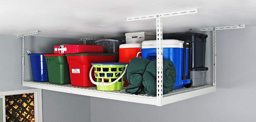 SafeRacks - 4x8 Overhead Garage Storage Rack Heavy Duty (18-33 Ceiling Drop)