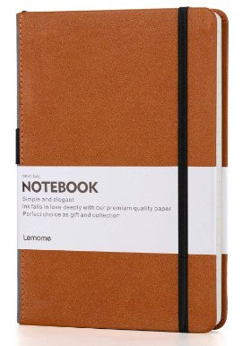 Grid Paper Notebook - Lemome Hardcover Classic Notebook with Pen Holder