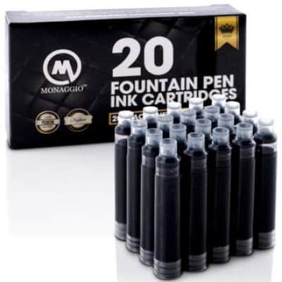 Fountain Pen Ink Refillable Cartridges Set Pack