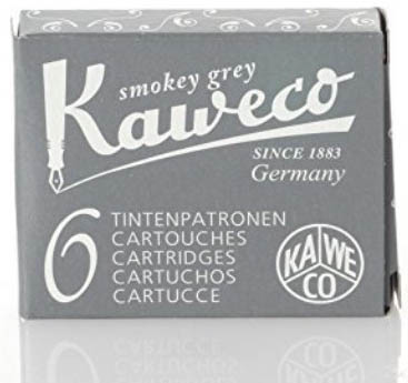 Kaweco Fountain Pen Ink Cartridges Short, Smokey Grey (Grey)