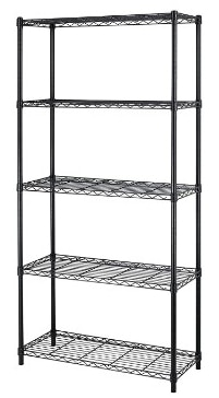 PayLessHere 5 Shelf Adjustable Steel Garage Shelving Systems, Black