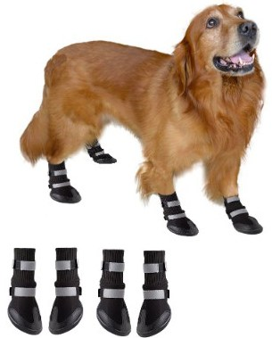 BESAZW Dog Boots Paw Protectors Antiskid Durable Soft Warm Pet Shoes