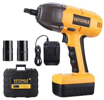 VETOMILE 18V Cordless Impact Wrench Kit 1:2 Inch High Torque Compact Electric Driver Tool Kit