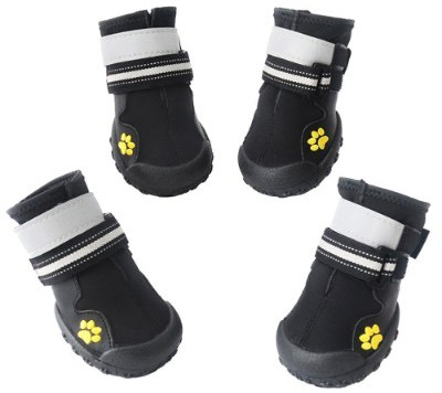 ASMPET Dog Boots Waterproof Shoes Reflective Anti-Slip Sole Snow Boots Warm Paw