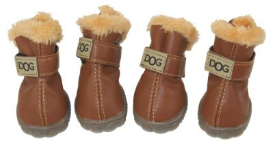 ZEKOO Dog Shoes Australia Boots Pet Antiskid Winter Warm Skidproof Grains