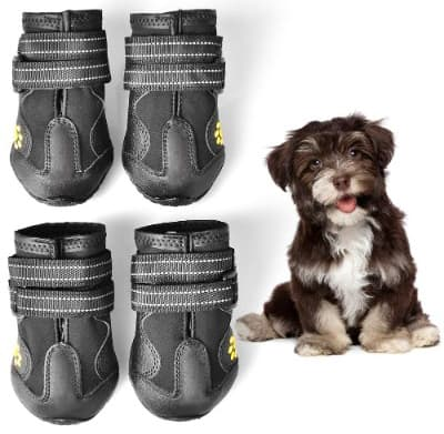 WUXIAN Waterproof Dog Shoes, Dog Outdoor Shoes, Running Shoes for Dogs, Pet Rain Boots