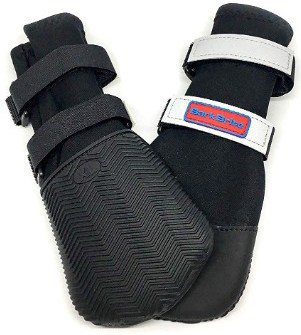 Bark Brite All Weather Neoprene Paw Protector Dog Boots with Reflective Velcro Straps