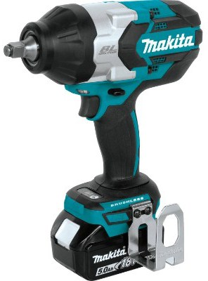 Makita XWT08T 18V LXT Lithium-Ion Brushless Cordless High Torque 1:2 Sq. Drive Impact Wrench