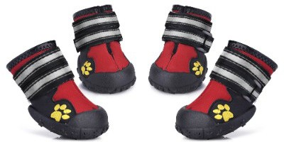 Petacc Dog Shoes Water Resistant Dog Boots Anti-Slip Snow Boots Warm Paw Protector