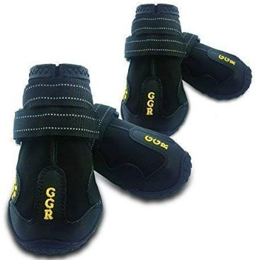 Union Rich Pet Boots 4 Pcs Outdoor Waterproof and Wearproof Running Shoes for Dogs Pet