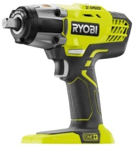 Ryobi P261 18 Volt One+ 3-Speed 1:2 Inch Cordless Impact Wrench w: 300 Foot Pounds of Torque