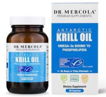 Dr. Mercola Antarctic Krill Oil, 30 Servings (60 Capsules), MSC Certified