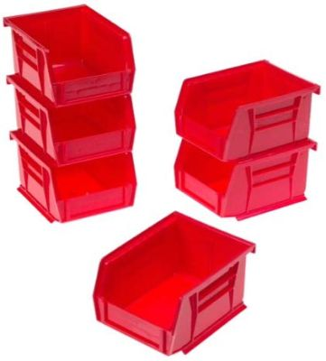Akro-Mils 8212 Six Pack of 30210 Plastic Storage Stacking AkroBins