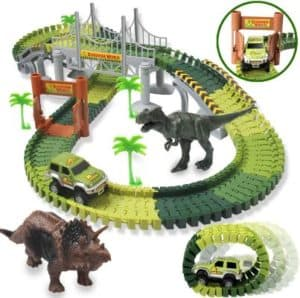 HOMOFY Dinosaur Toys 142pcs Slot Car Race