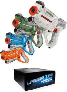 Laser Tag Set Toys and Carrying Case (4 Pack)