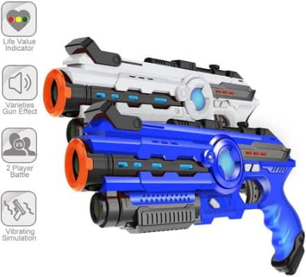 4 PCS Infrared Laser Tag Guns 4 Players Game Set Battle Blasters Gifts for Kids