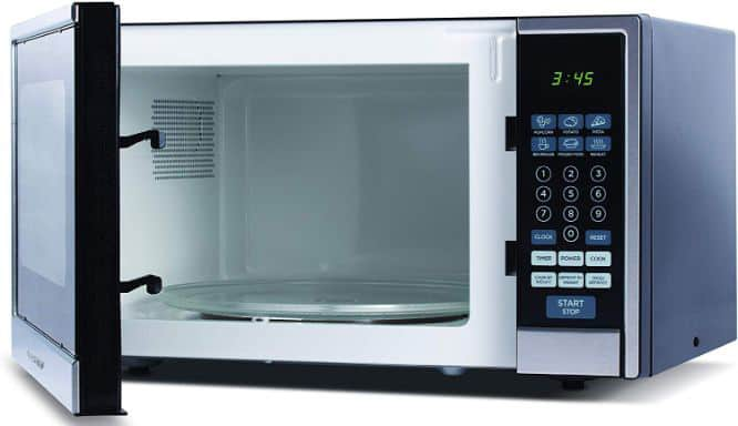 Commercial Chef CHCM11100SSB Countertop Microwave