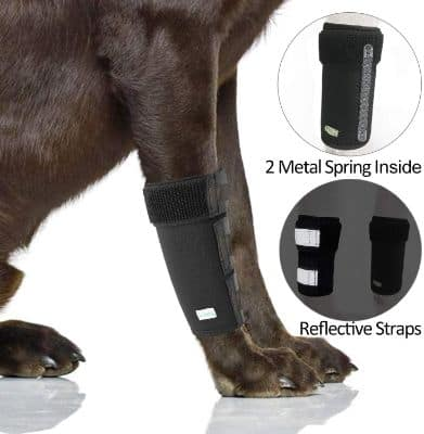 IN HAND Dog Leg Brace, Pair of Dog Canine Leg Wrap Front Leg Compression Brace