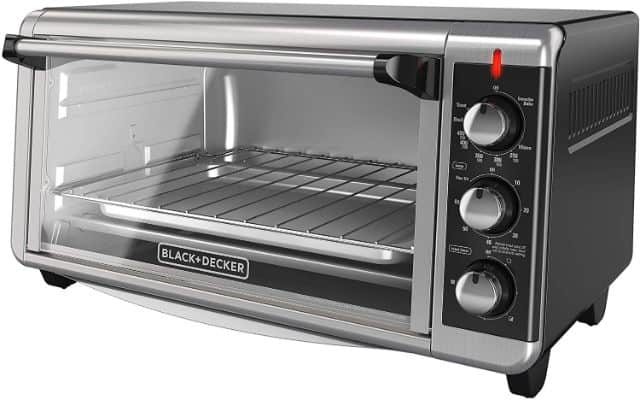 BLACK+DECKER TO3250XSB 8-Slice Extra Wide Convection Countertop Toaster Oven