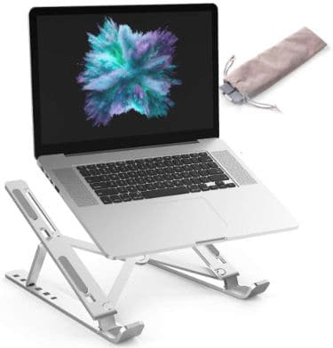 Laptop Stand ALIWIKI Ventilated Adjustable Laptop Stand Laptop Riser Aluminum Cooling