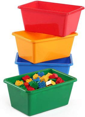 Tot Tutors Kids' Primary Colors Small Storage Bins