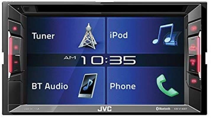 JVC KWV140BT Double Din BT in-Dash DVD:CD:Am:FM Car Stereo