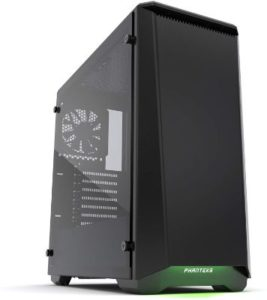 Phanteks PH-EC416PTG_BK Eclipse P400 Steel ATX Mid Tower Case Satin Black, Tempered Glass Edition Cases