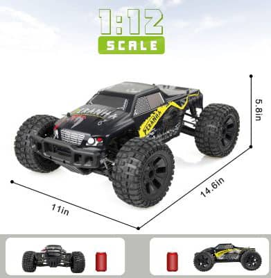 VCANNY Large Size 1- 12 Scale Electric Remote Control Truck