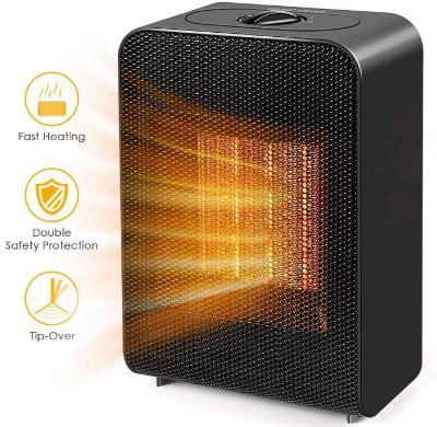 Portable Space Heater, Indoor 750W:1500W Ceramic Electric Heater