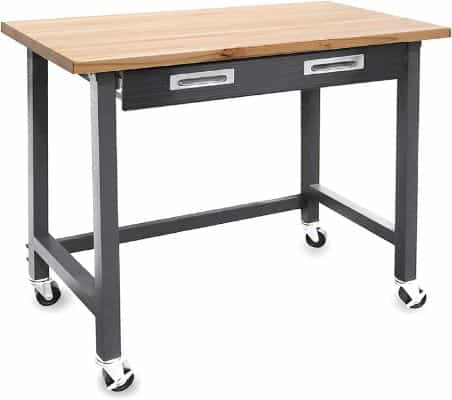 Seville Classics WEB484 UltraGraphite Wood Top Workbench
