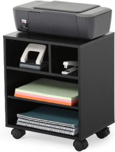 FITUEYES Mobile Printer Stand with Organizing Storage
