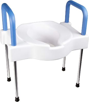 Maddak Tall-Ette Elevated Toilet Seat with Extra Wide Seating Surface and Legs (725881000)