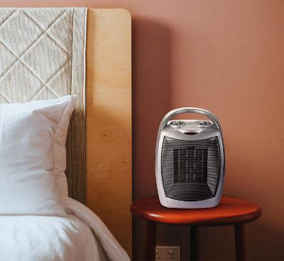 400W : 750W Ceramic Space Heater with Overheat Protection & Tip-Over Protection