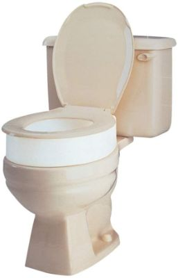 Carex Toilet Seat Riser, Elongated Raised Toilet Seat adds 3.5 inches to Toilet Height, for Assistance Bending or Sitting